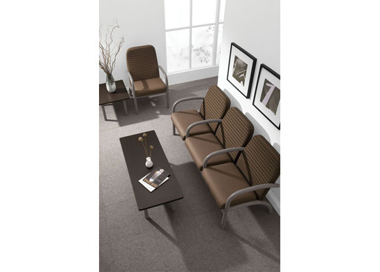 Aubra medical office furniture is a great match for any medical guest seating requirement.