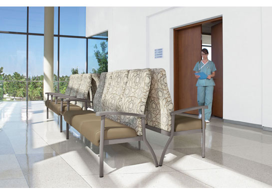 Belong medical furniture adapts to both public and private spaces.