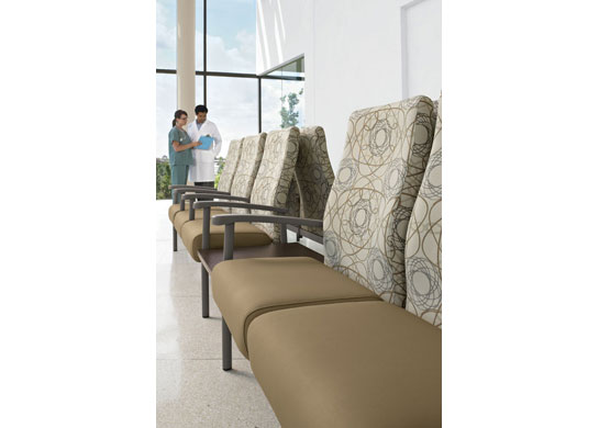 Belong hospital chairs come standard with high density ultracell foam.