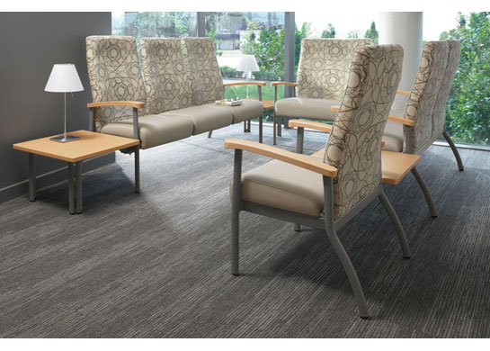 Belong hospital chairs have a wood armcap upgrade option.