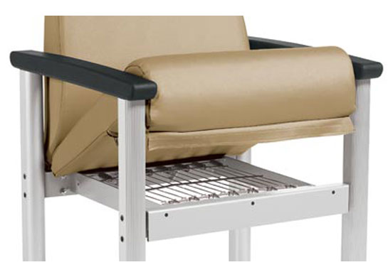 "Medical chair cushions and covers are removable, replaceable and are supported by 2"" steel frame with Perma-mesh suspension for superior performance."
