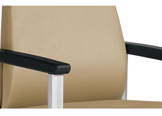 Contoured back and lumbar support for extra comfort in these medical chairs.