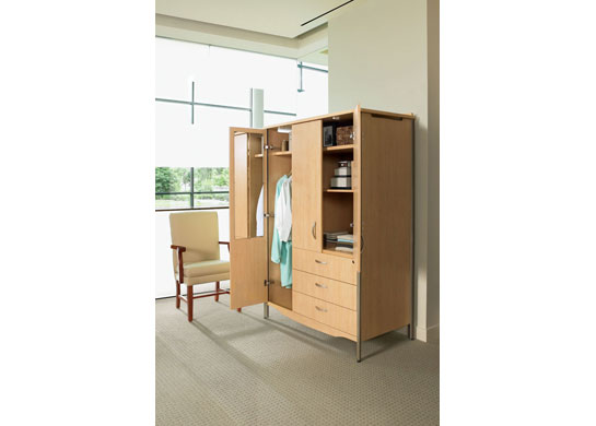 Additional Sonoma healthcare furniture items include a hospital wardrobe cabinet
