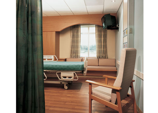 Wellness medical recliners as pictured in a patient room