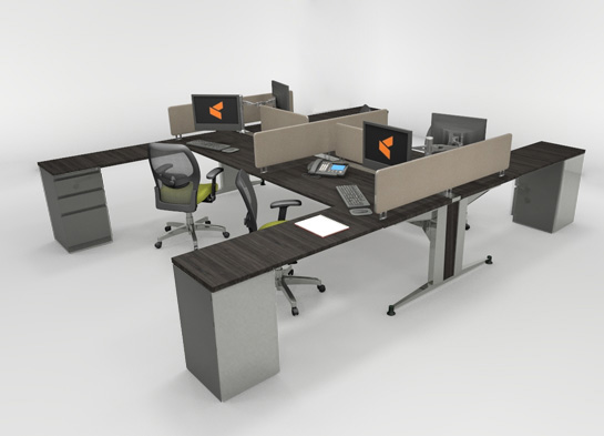 Office Workstations Mayline TransAction #3