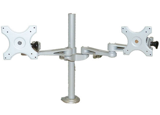 call center furniture accessories - dual monitor arms
