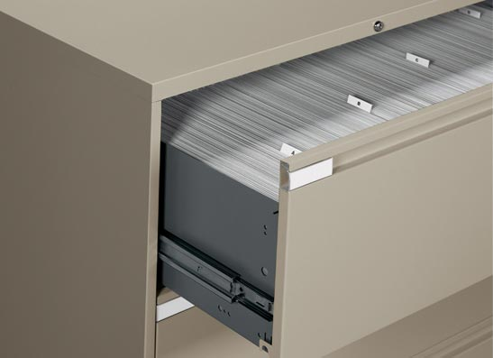 Metal File Cabinets   Full Extension 3 Stage Ball