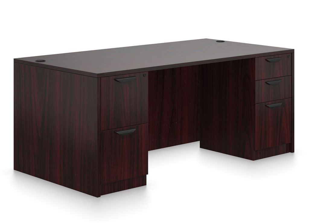Double pedestal desk - OTG Laminate Desk Furniture