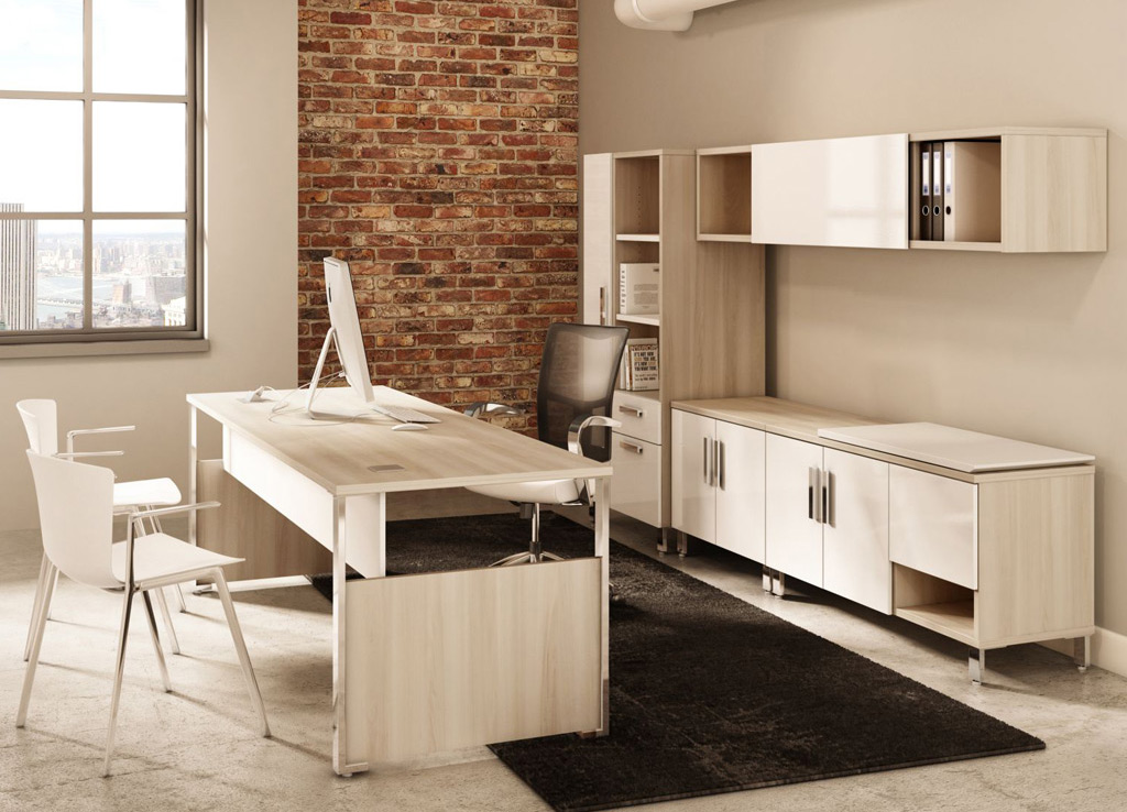 elegant office furniture - contemporary office desk - desk furniture