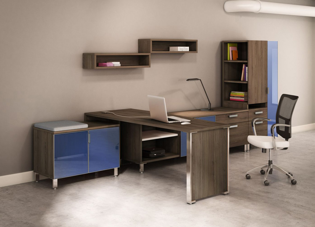 Unique office furniture contemporary office desk desk for Colorful office furniture