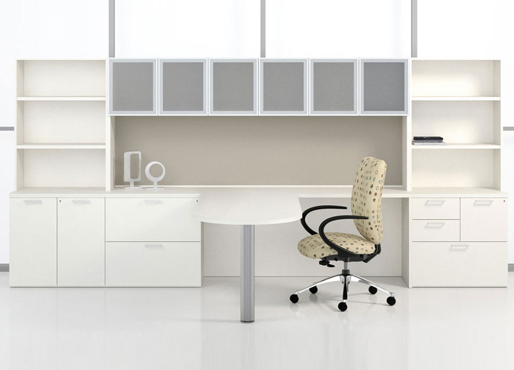 set furniture simple product white executive modern table detail desk office boss