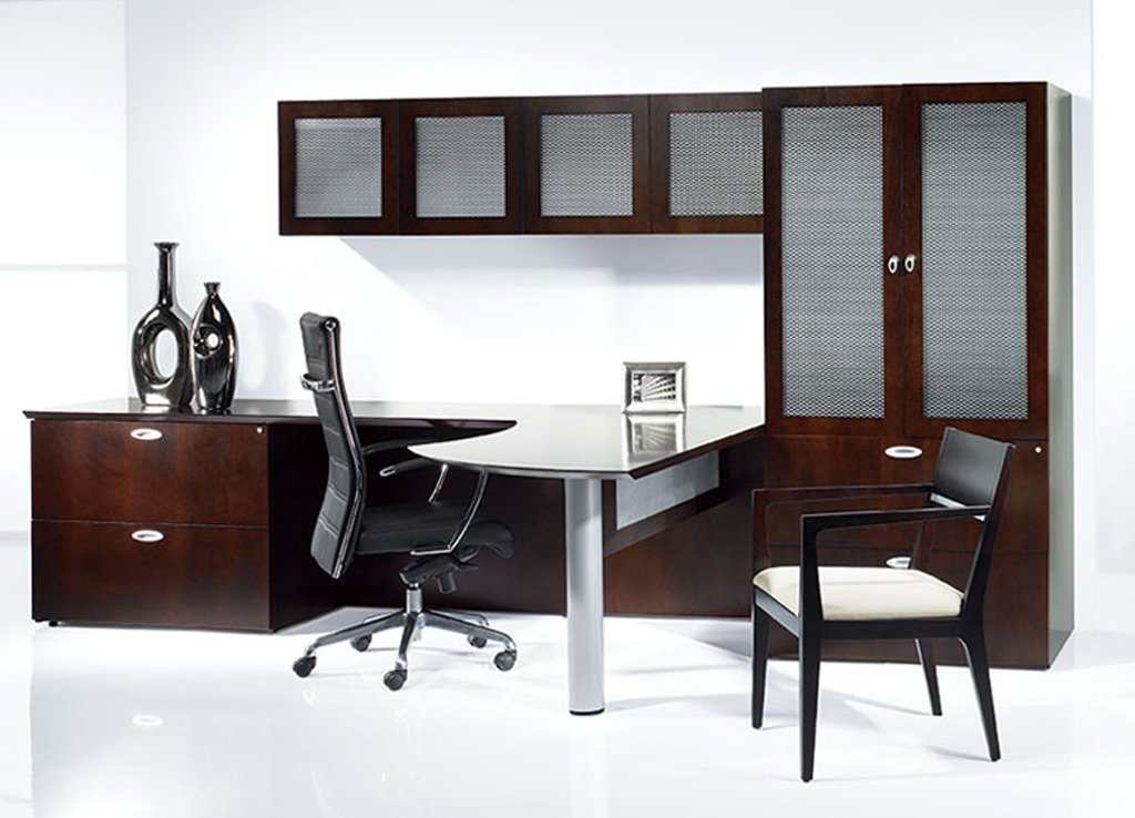 Wooden office desk - Vegas Desk Furniture (Veneer Tops)