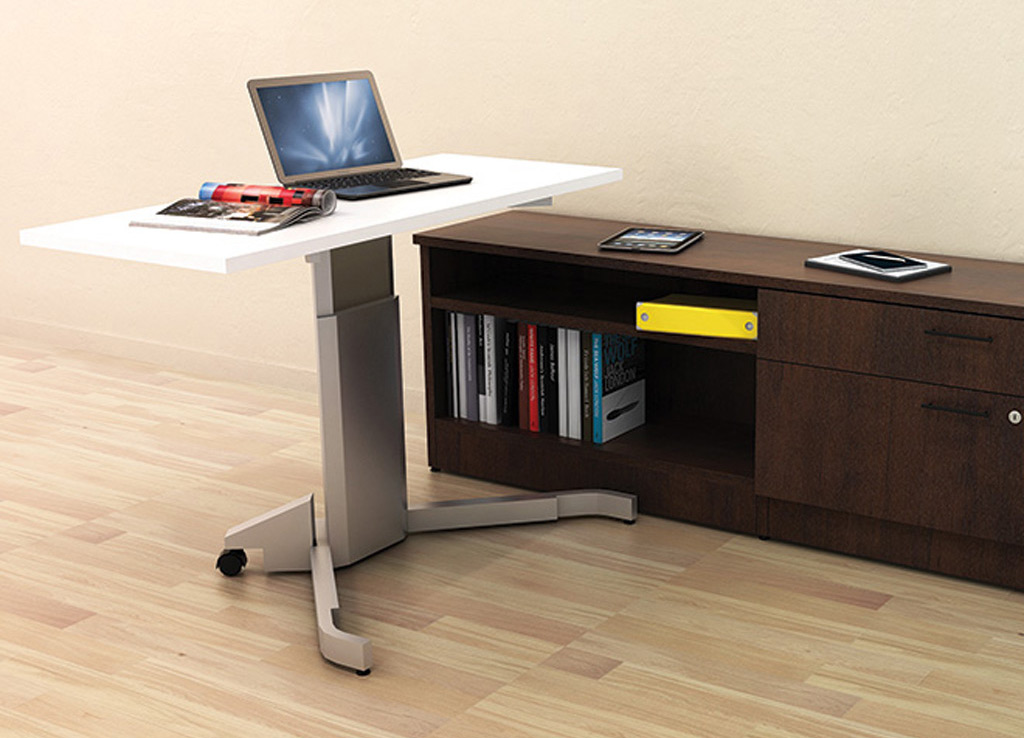 Tall computer desk - IOF Custom Desk Furniture