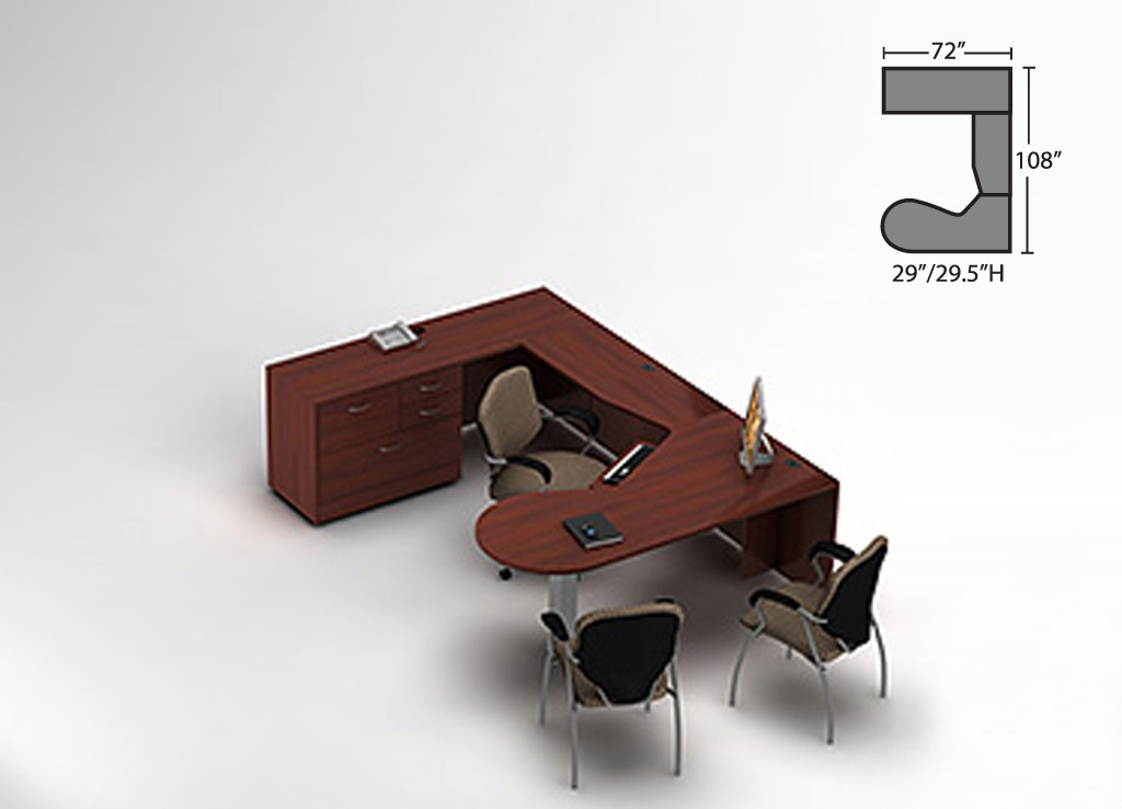 U shaped desks - Zira Desk Furniture