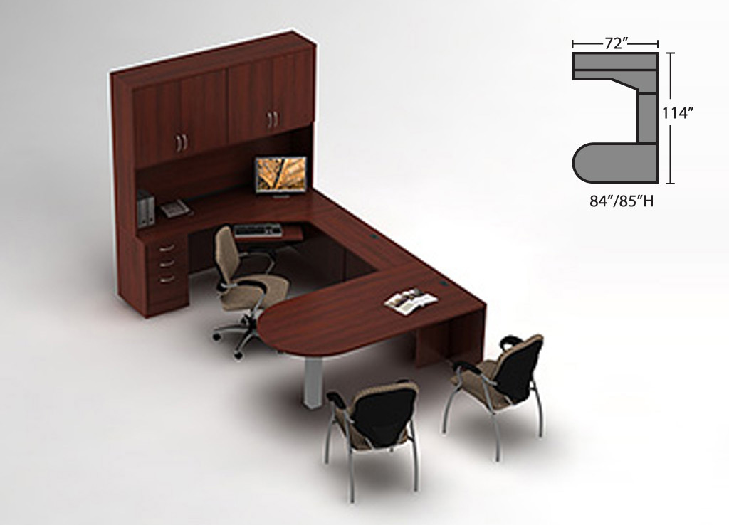 Cherry office furniture - Zira Desk Furniture
