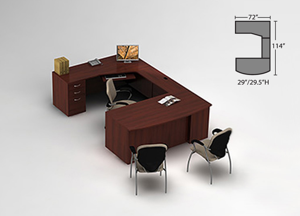 Cherry Wood Desk Global Office Furniture Desks Desk Furniture
