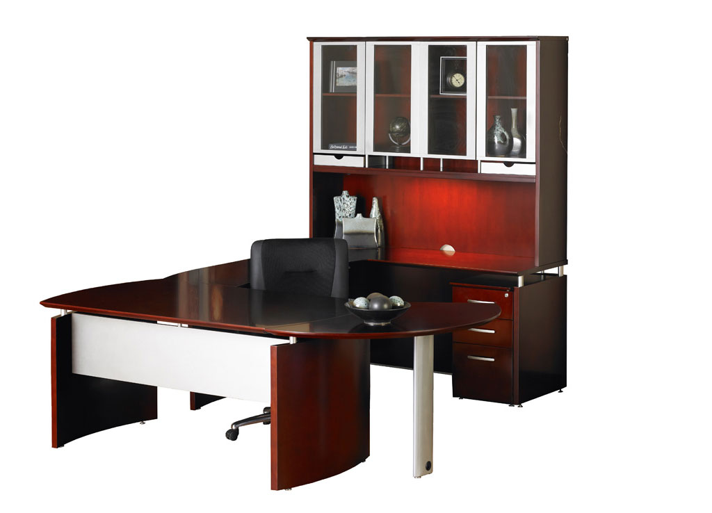 Solid wood office furniture - Napoli Desk Furniture (Veneer Tops)