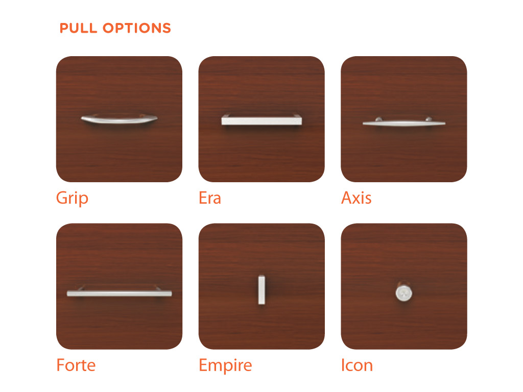 Enhance your Contemporary Office Desk from OFS with 6 handle options.