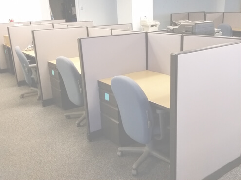 Call Center Furniture - Trendway Choices Used Cubicles