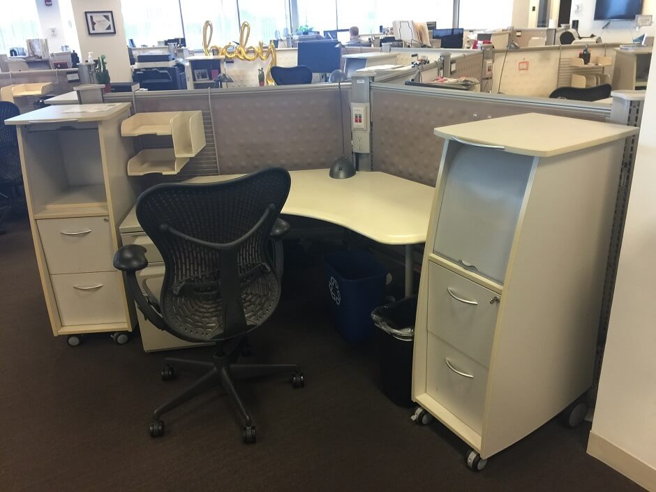 Used Herman Miller Resolve - Low Panels - Used Cubicles