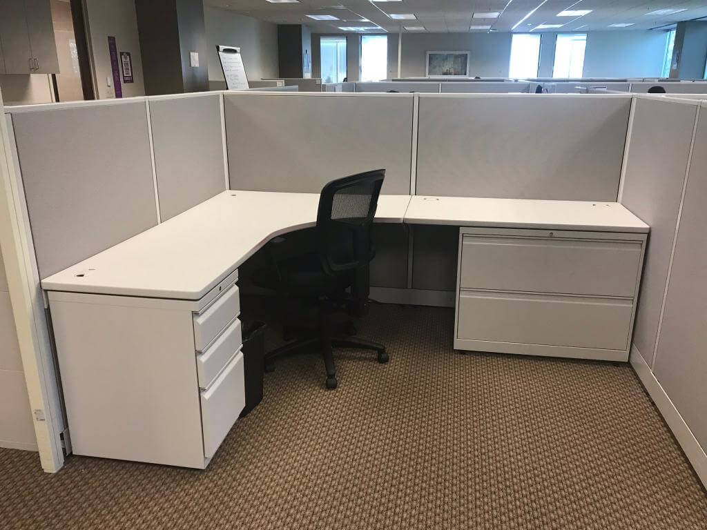 Used Allsteel Concensys Medium Panels Cubicles