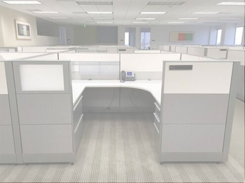 Used Knoll Dividends 6x8x50h Medium Panels Used Cubicles