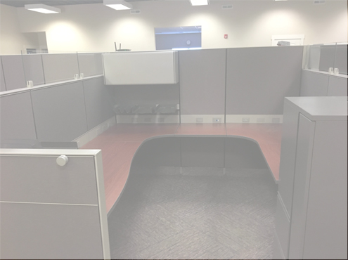 Used Herman Miller Canvas 8x8 Combo Panels Used Cubicles
