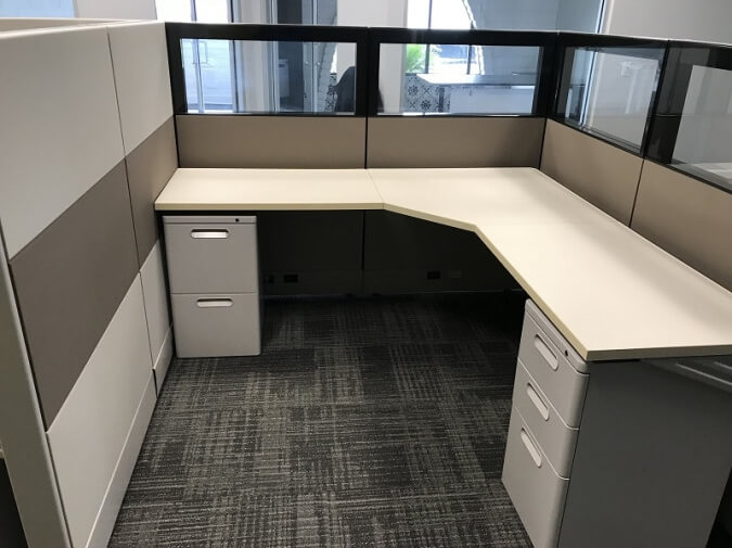 Used Herman Miller Foundation - Meduim Panels - Used Cubicles