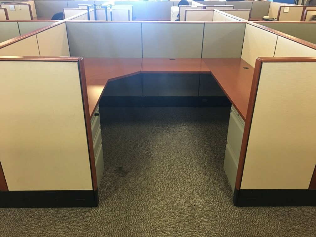 Used Knoll Reff Cubicles - Low Panels - Used Cubicles
