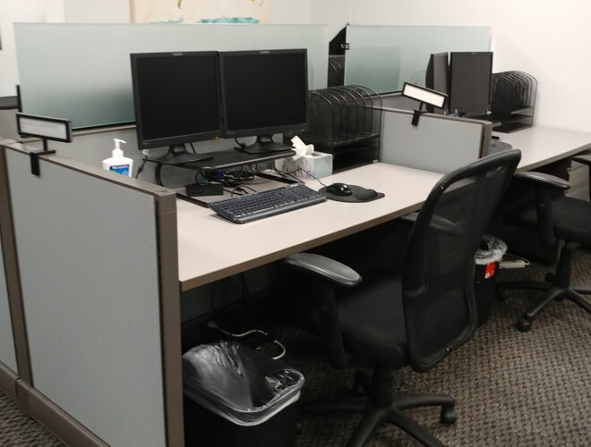 Used Open Plan O2 - Low Panels - Used Cubicles