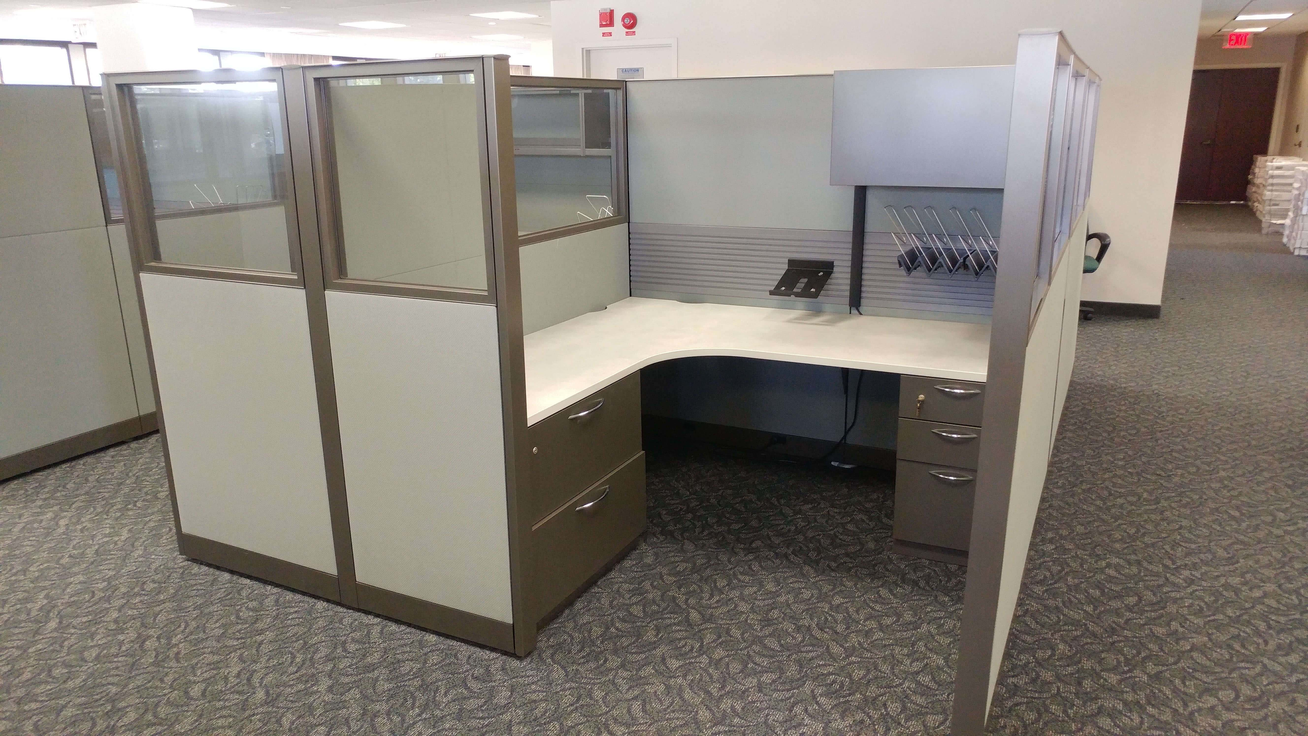Used Steelcase Answer - Tall Panels - Used Cubicles