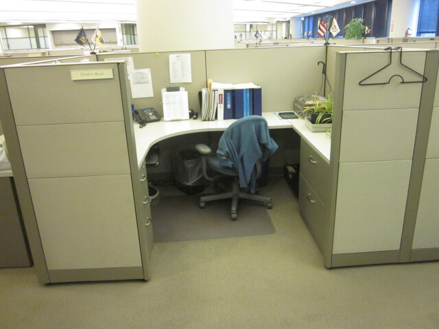 Used Steelcase Answer Cubicles - Meduim Panels - Used Cubicles