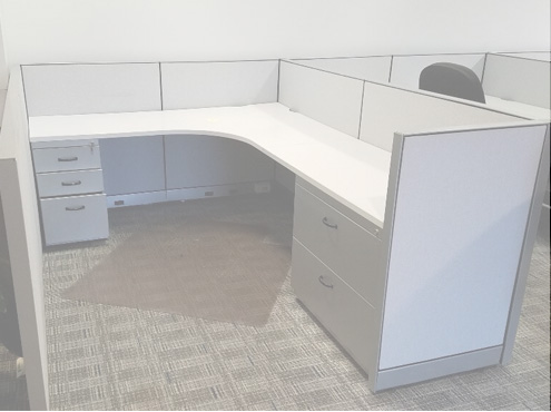 Used Steelcase Workstations  - Low Panels - Used Cubicles