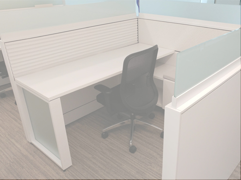 Used Teknion Leverage - Low Panels - Used Cubicles