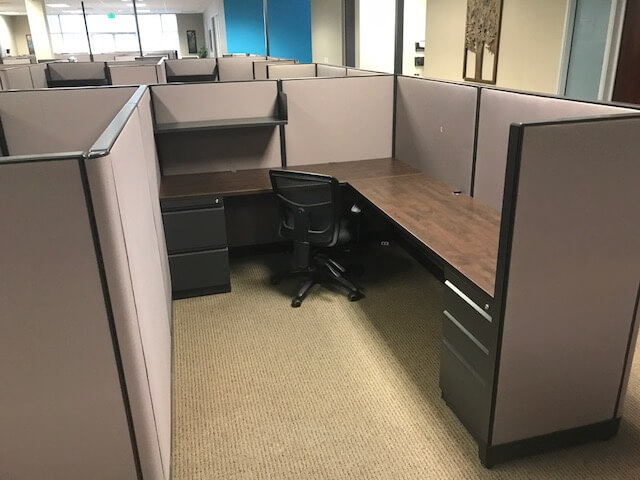 Used Trendway Cubicles - Meduim Panels - Used Cubicles