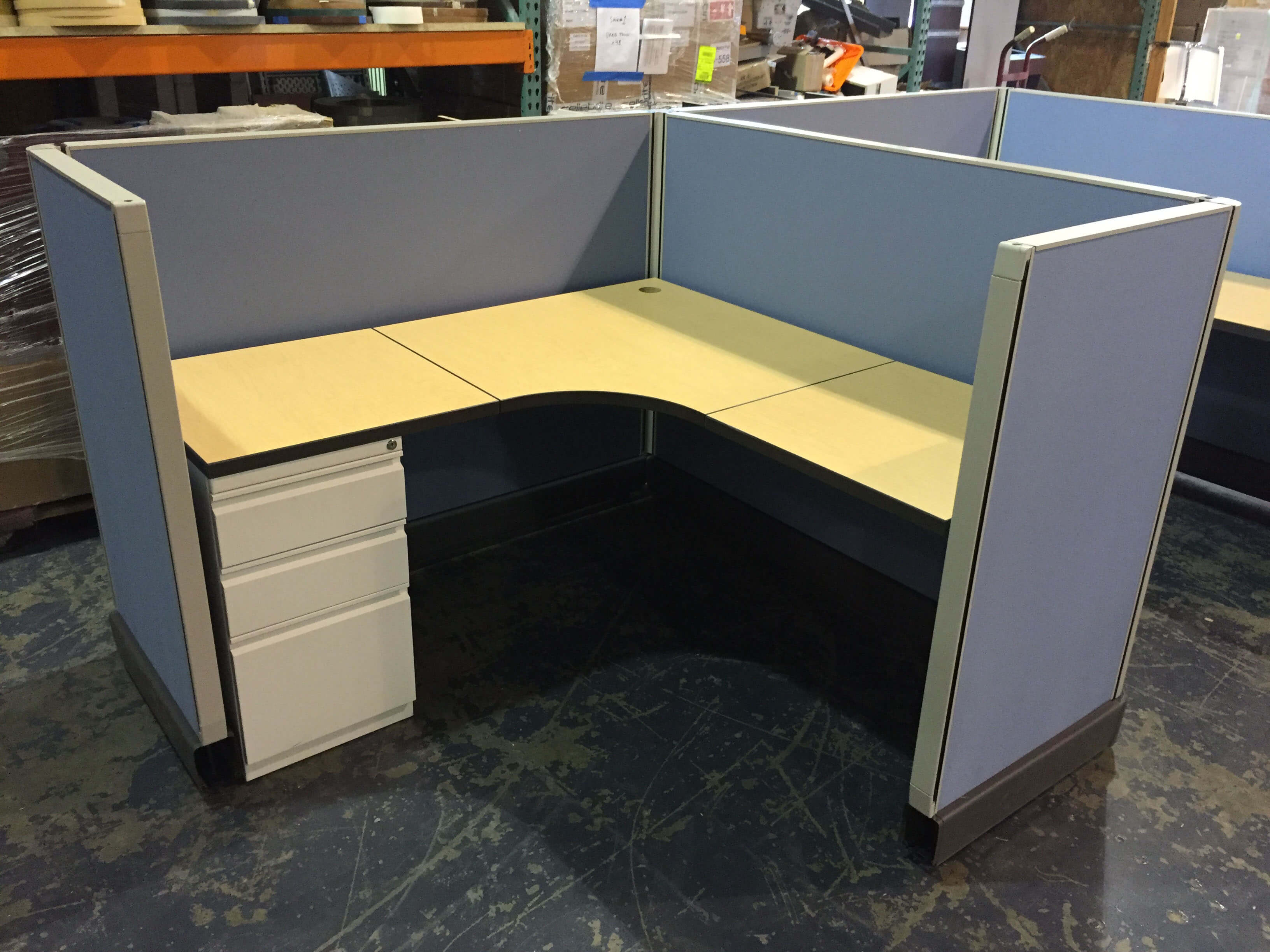 used 5x5 cubicles - low panels