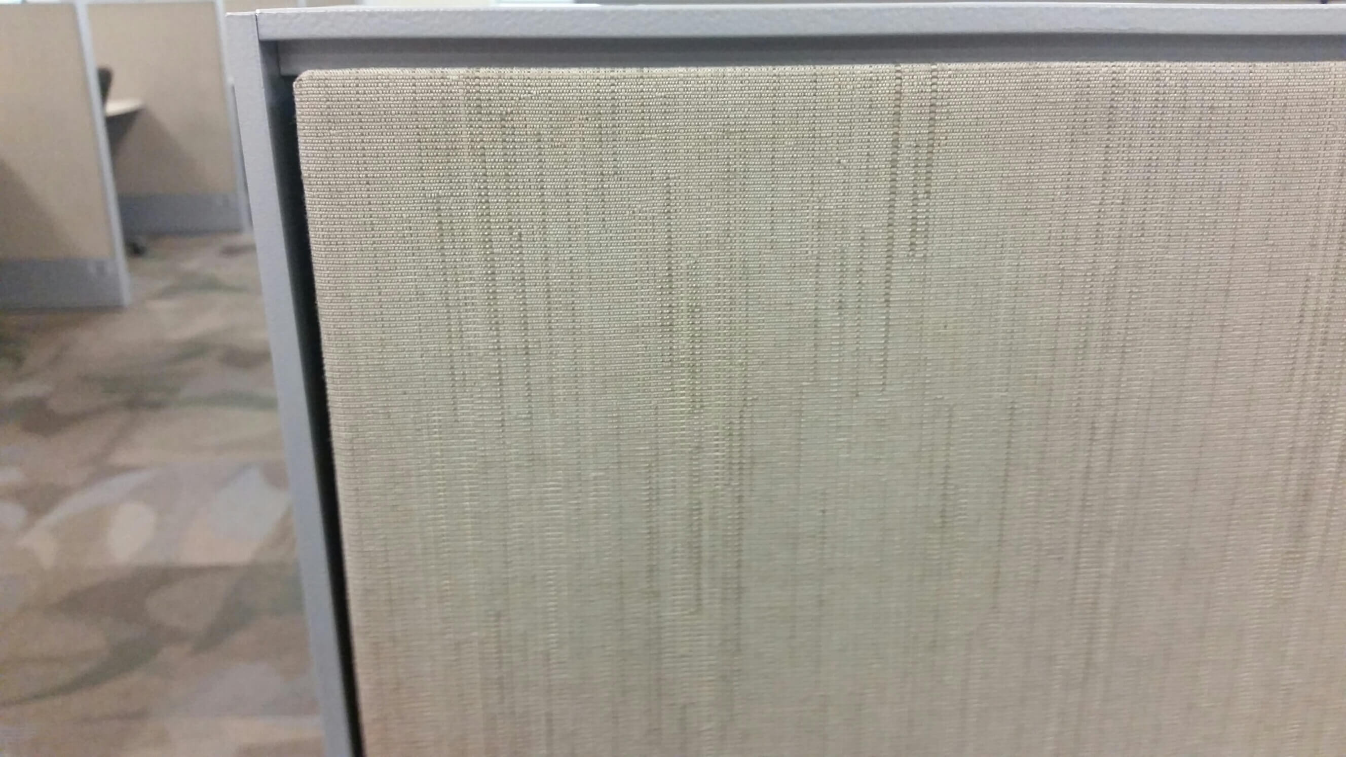 Used cubicles with Medium panels from Haworth - panel fabric is available in Striae Element