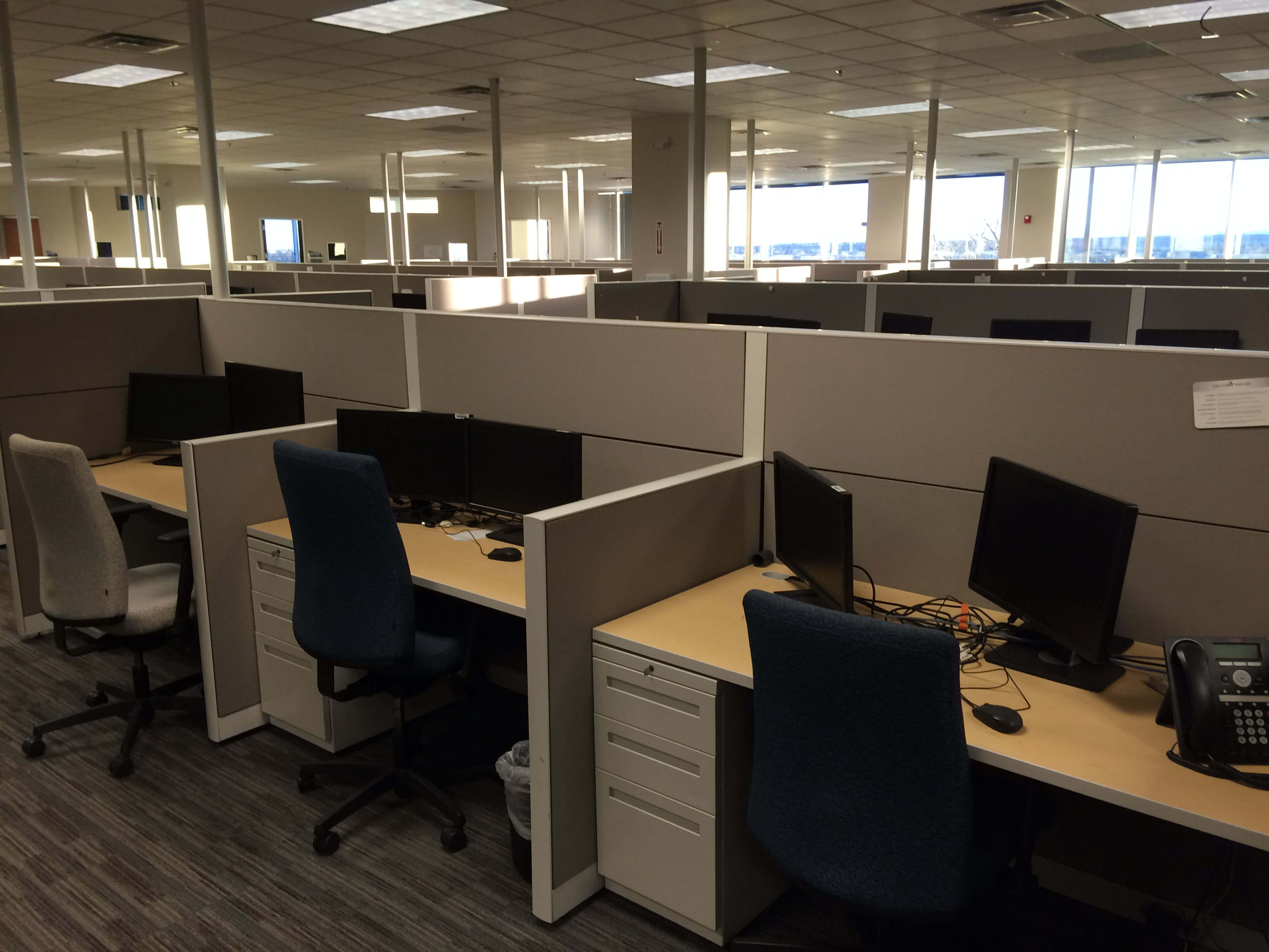 Allsteel Terrace DNA 3x5 Used Office Cubicles Used  : call center furniture 071816 1b from www.cubicles.com size 3264 x 2448 jpeg 629kB