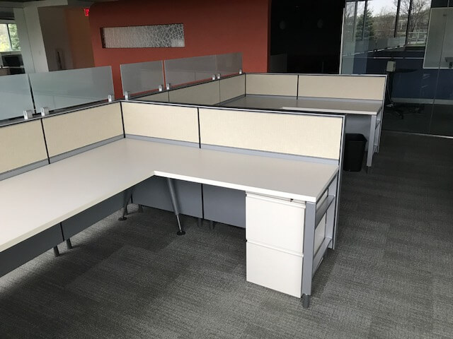 Used Herman Miller Canvas 8x6x42h Low Panels Used Cubicles