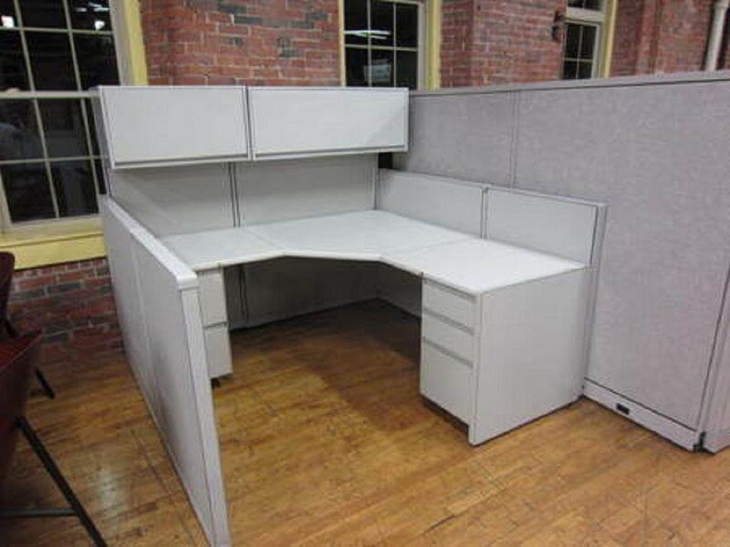 Used cubicles with Low/High Panel Combos from Steelcase - each workstation consists of 65/53/42 inch height vertical panels