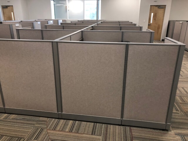 Used Haworth Unigroup Too 5x5 Low Panels Used Cubicles