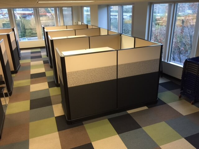 Used Herman Miller Ao2 7x8 Tall Panels Used Cubicles