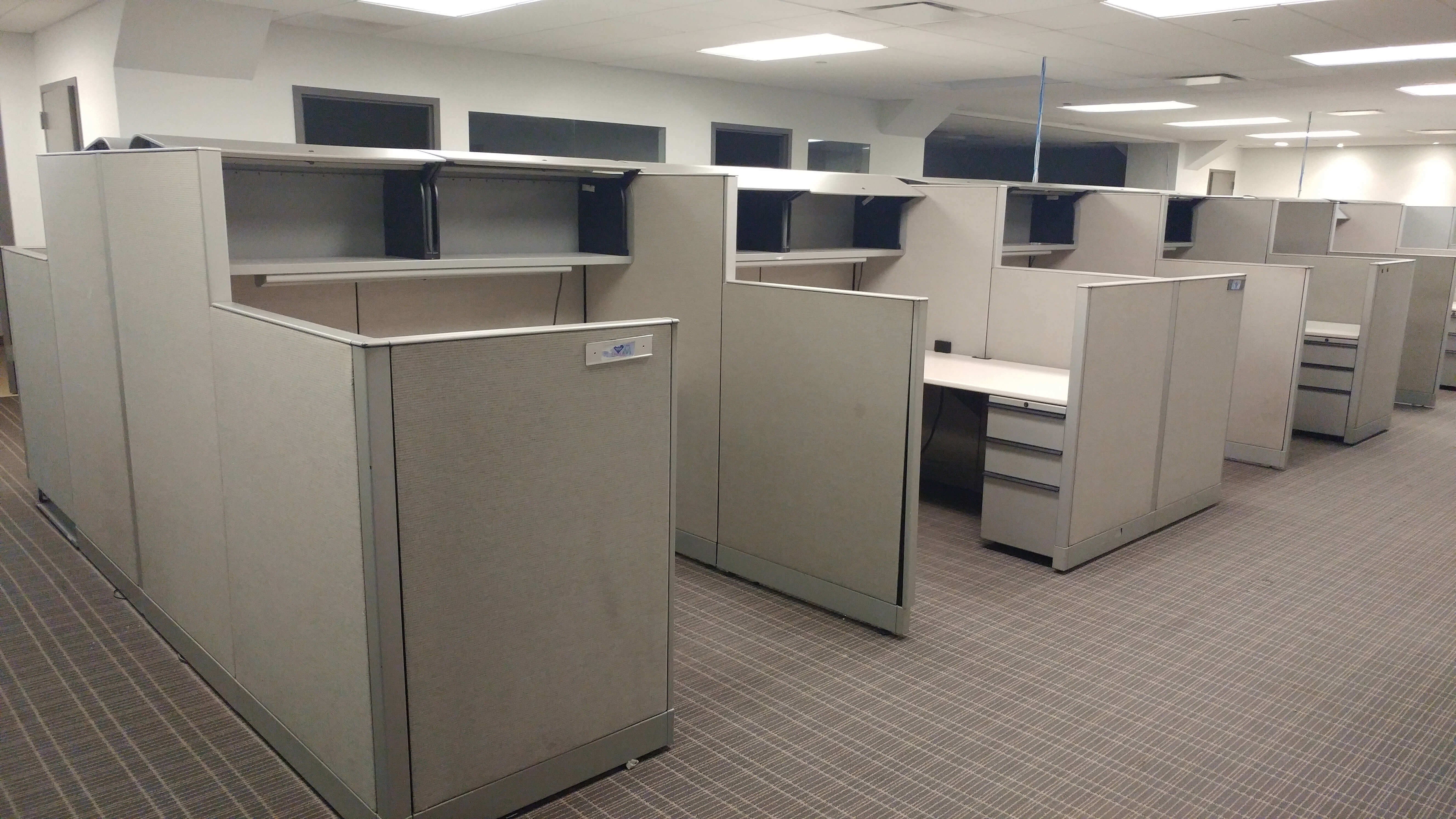Used Knoll Morrison 6x6 Combo Panels Used Cubicles