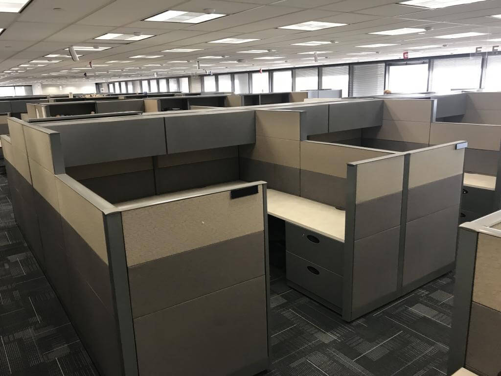 Used Steelcase Answer 8x8 Combo Panels Used Cubicles