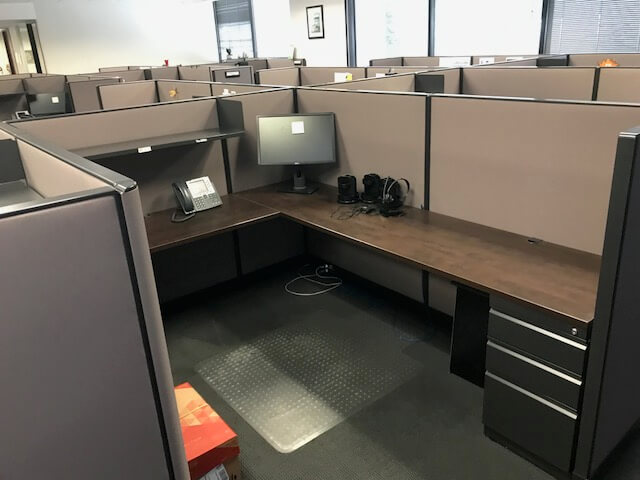 Used Trendway Cubicles - Private Workspace