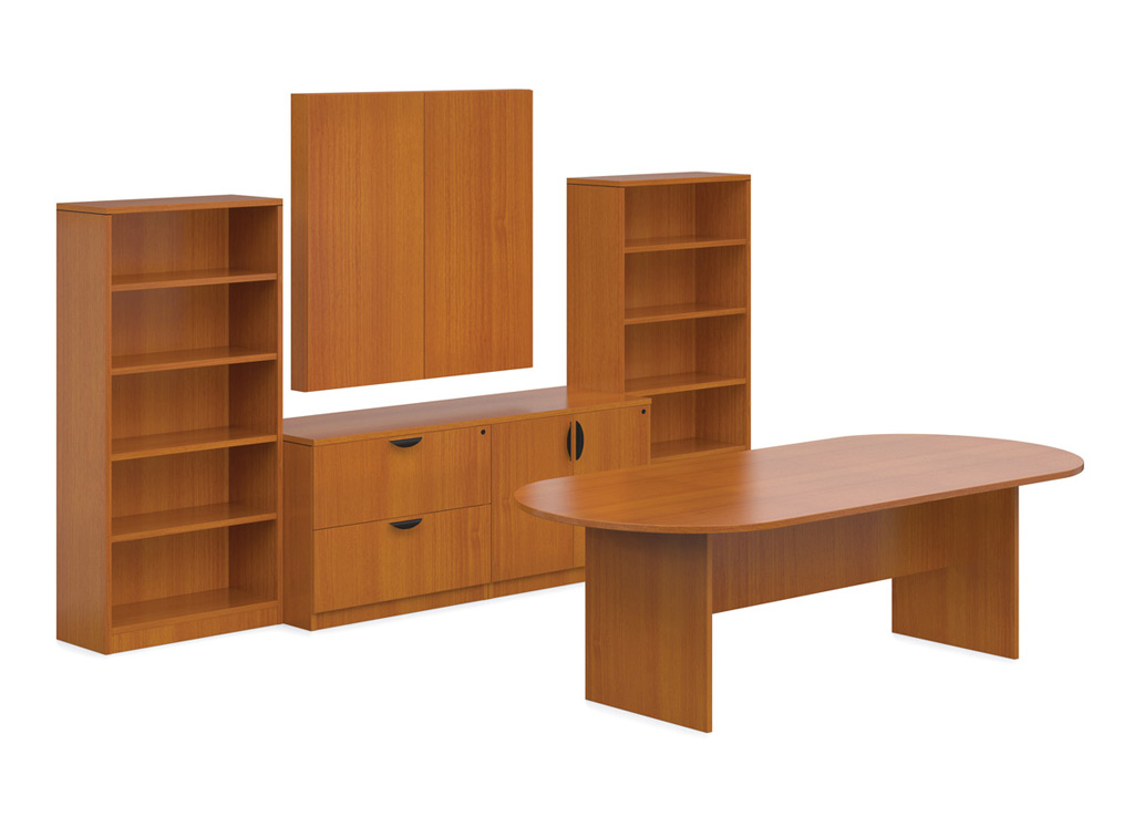 Cherry Office Furniture - OTG Laminate Conference Room Furniture