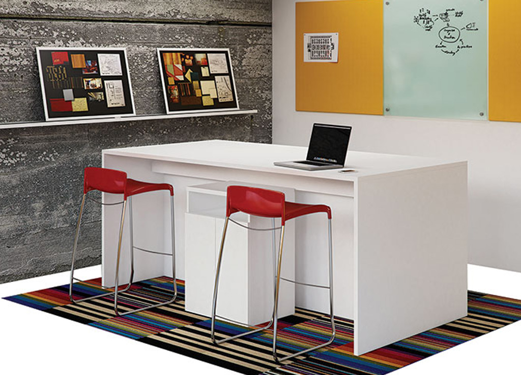 White office furniture - Intermix Conference Room Furniture