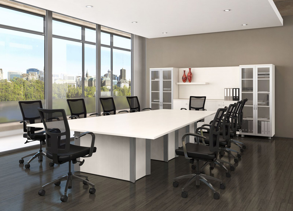 White Office Furniture - Logiflex Conference Room Furniture