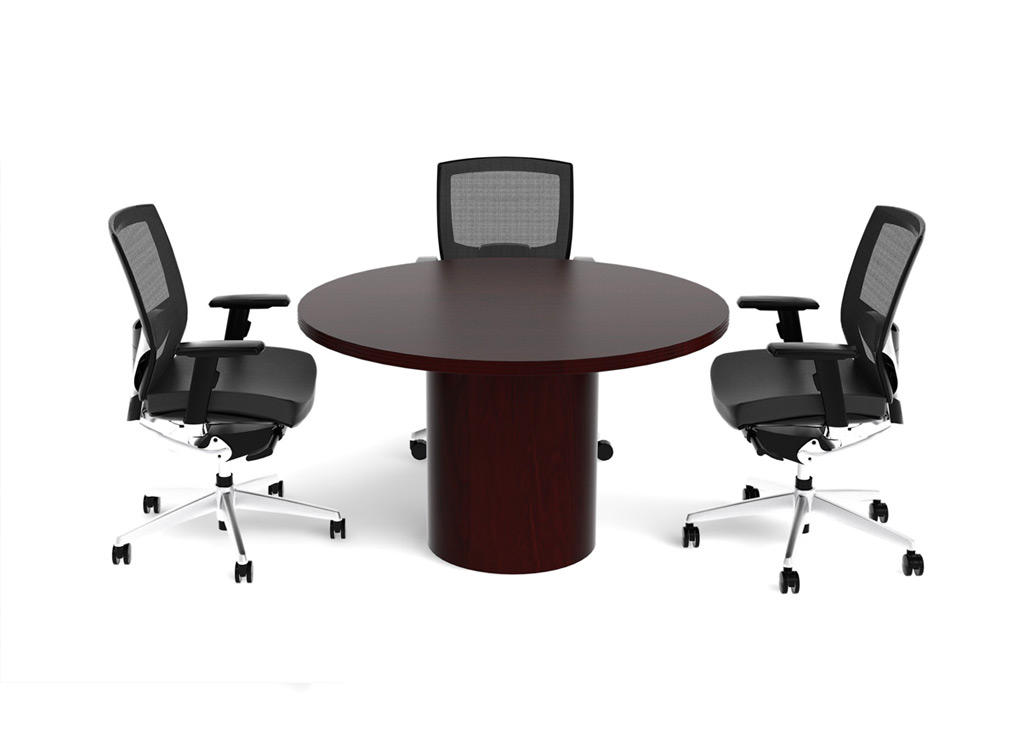 Small Office Furniture Wood Office Furniture Tables - Small round meeting table and chairs