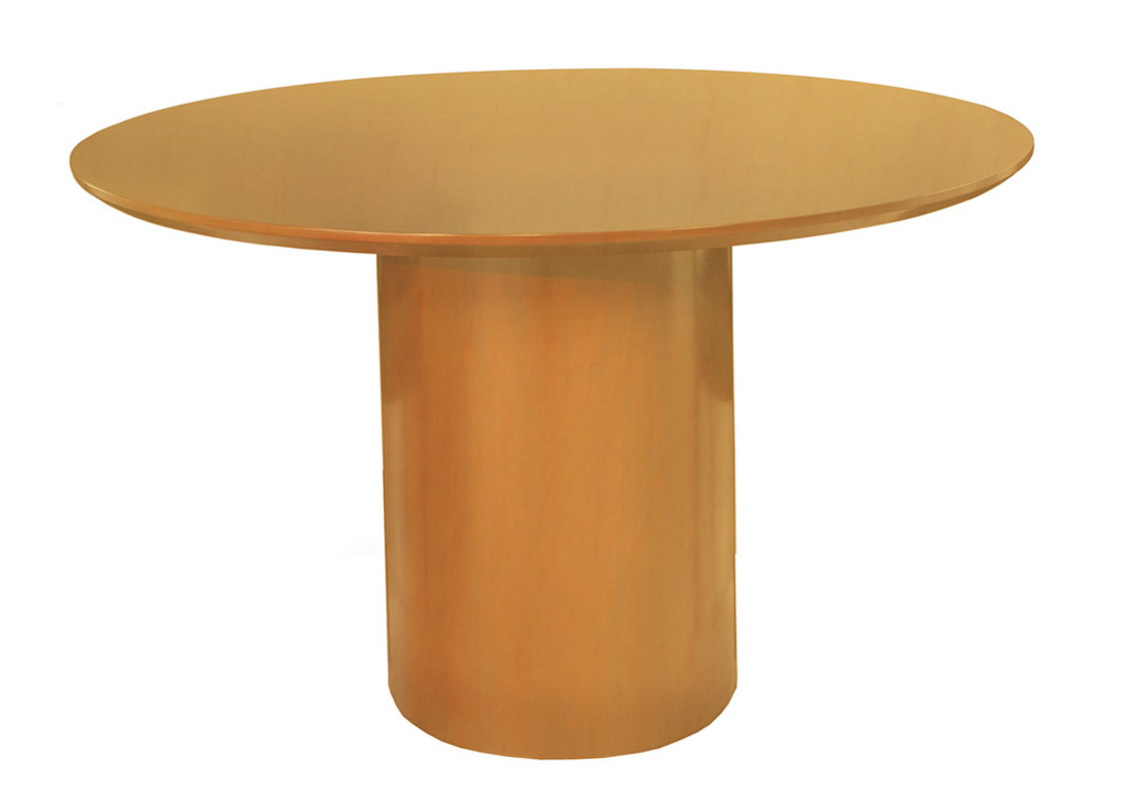 Wood Office Furniture Tables from Mayline - Shown in Golden Cherry Wood